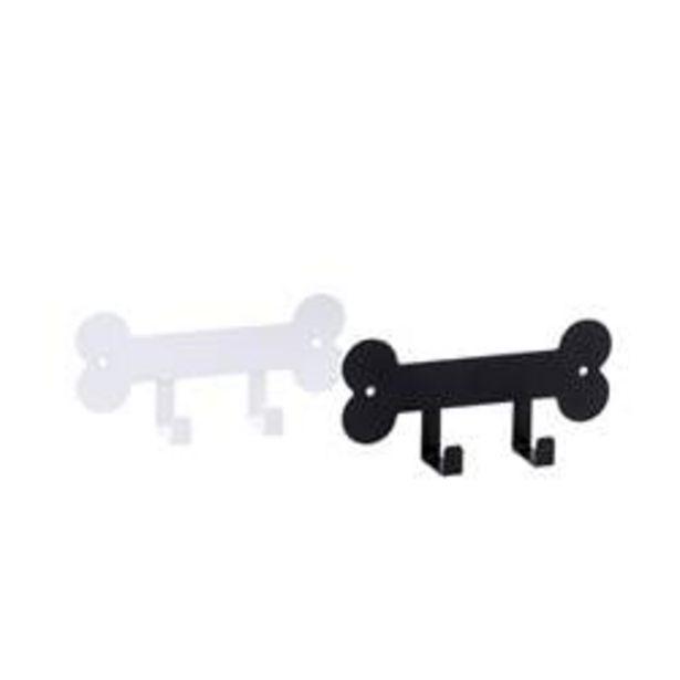 Oferta de BONES Perchero 2 ganchos 2 colores negro, blanco A 7,5 x An. 16,8 x P 3,5 cm por 1,75€