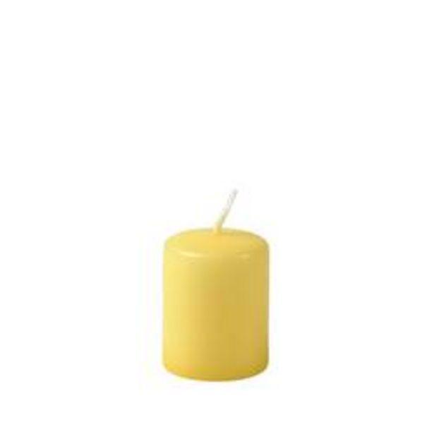 Oferta de CILINDRO Cilinderkaars amarillo claro A 5 cm; Ø 4 cm por 0,55€