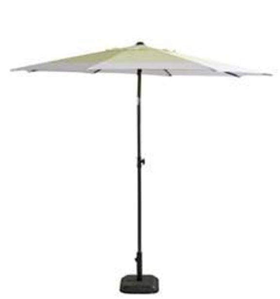 Oferta de BAHAMAS Parasol blanco, amarillo A 220 cm; Ø 220 cm por 44,95€