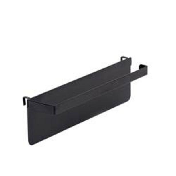 Oferta de MODULAR Soporte papel de cocina negro A 8 x An. 27 x P 5.5 cm por 2,96€