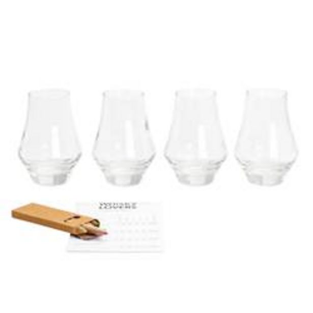 Oferta de TASTING Juego para whisky de 9 piezas transparente por 7,47€