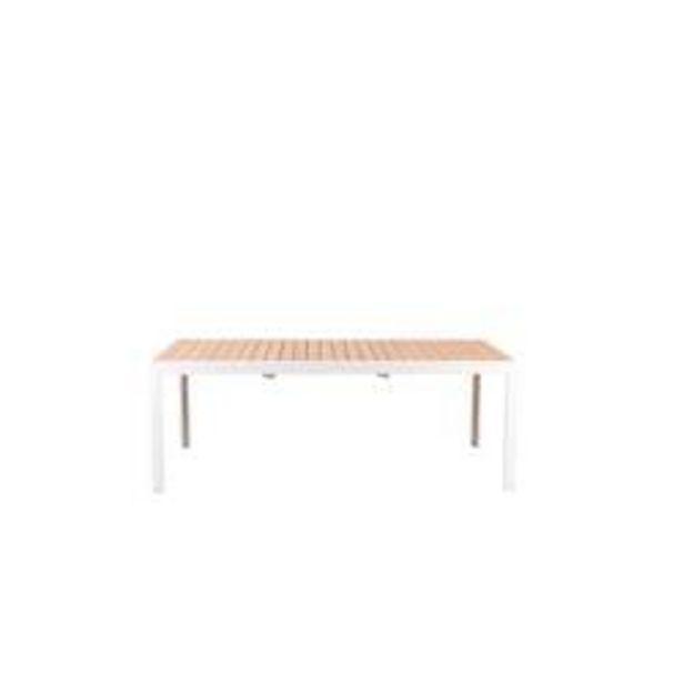 Oferta de ETHAN Mesa extensible blanco, natural A 76 x An. 95 x L 205 cm por 799€