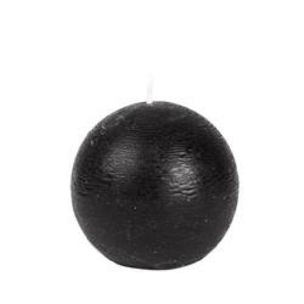 Oferta de RUSTIC Vela esférica negro Ø 8 cm por 1€