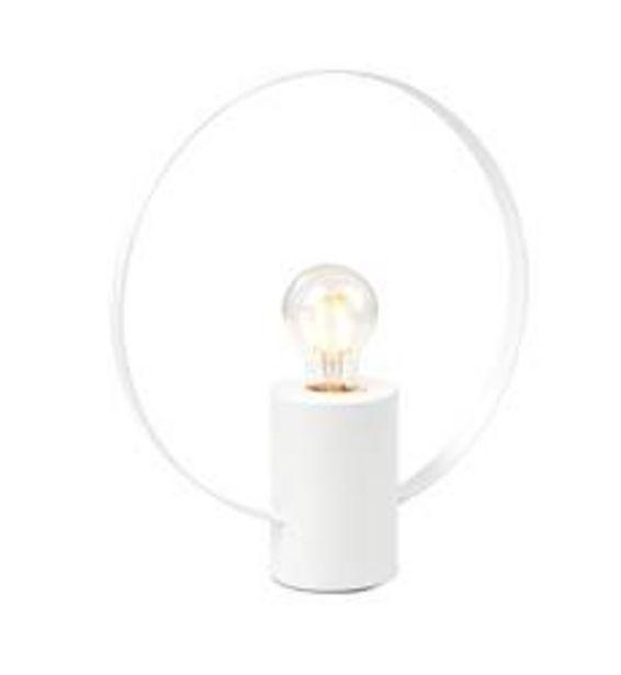 Oferta de YOUNG Lámpara de mesa blanco A 31,5 cm; Ø 28 cm por 4,84€