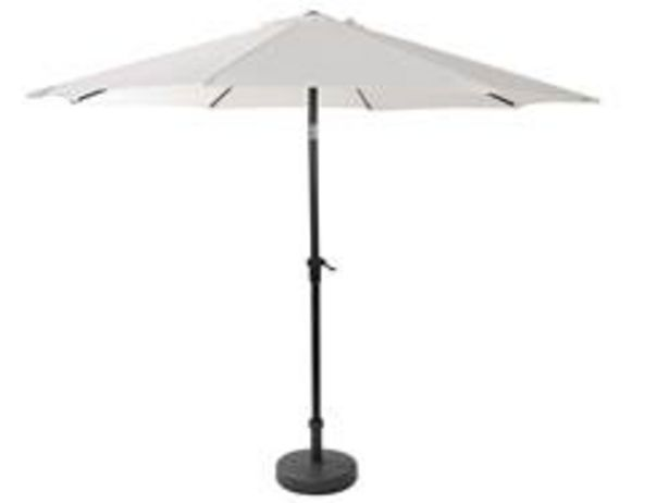 Oferta de ALU Parasol sin pie blanco A 240 cm; Ø 300 cm por 62,1€