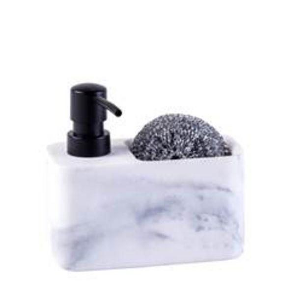 Oferta de SHADOW Dispensador de jabón con esponja negro, blanco A 13,5 x An. 14,7 x P 7,5 cm por 7,95€