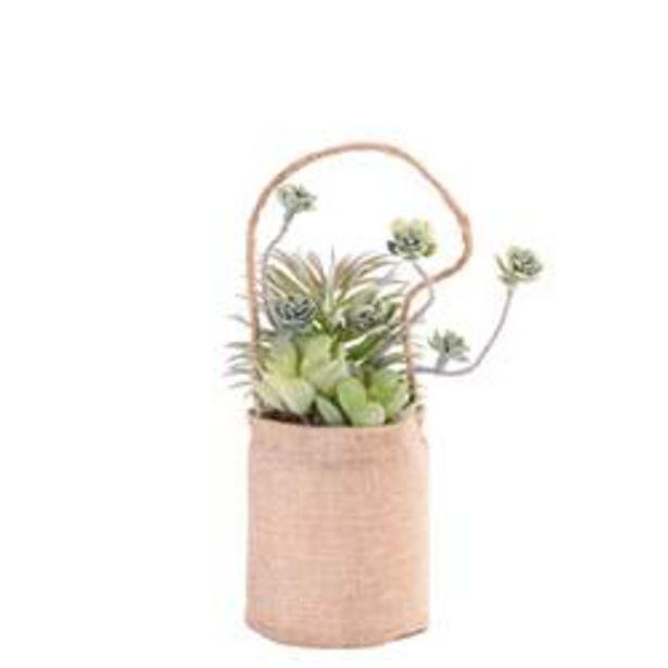 Oferta de ROPE Planta artificial macetero colg natural Ø 14 cm por 6,75€