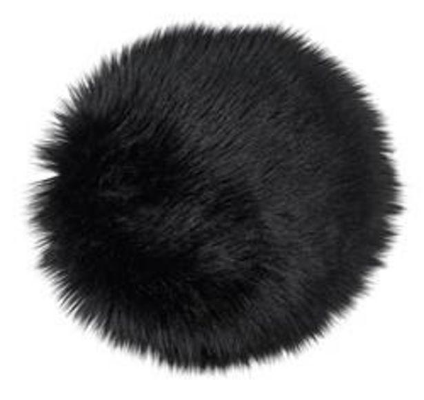 Oferta de FUR Mantel individual negro Ø 32 cm por 4,86€