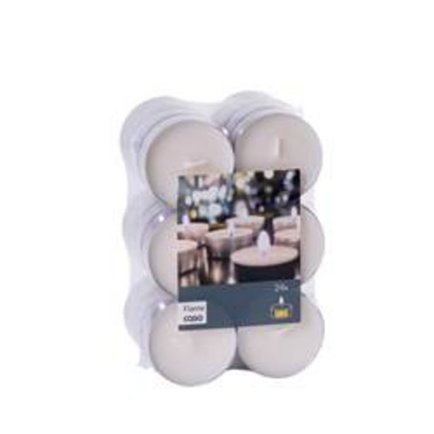 Oferta de FLAME Maxi velas blanco por 5,5€