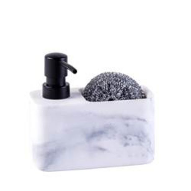 Oferta de SHADOW Dispensador de jabón con esponja negro, blanco A 13.5 x An. 14.7 x P 7.5 cm por 7,95€
