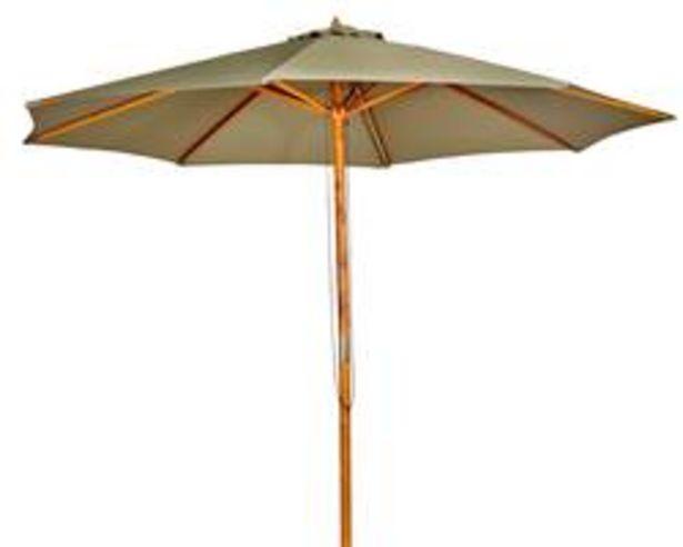 Oferta de WOOD Parasol sin pie verde A 260 cm; Ø 300 cm por 79€