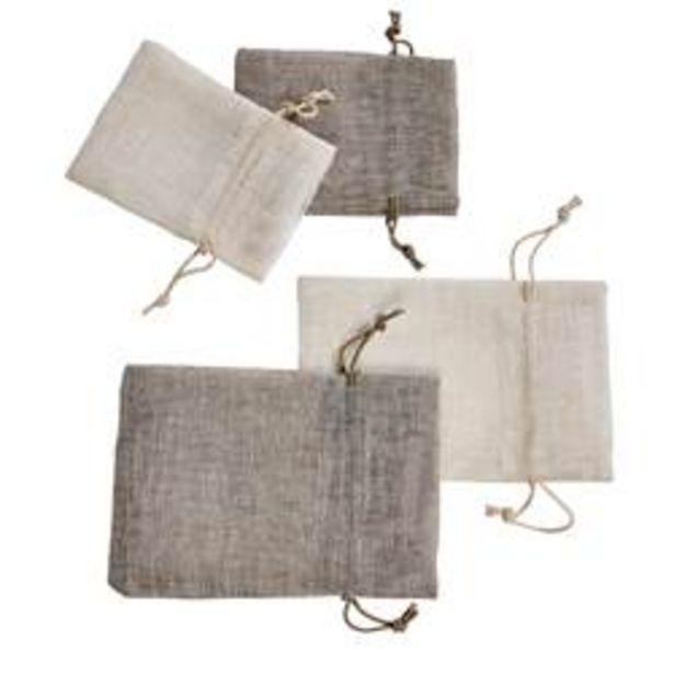 Oferta de LISSE Bolsita con lazo 2 tamaños 2 colores marrón, blanco apagado por 1,79€