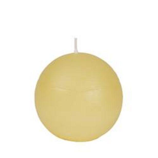 Oferta de RUSTIC Vela esférica marfil Ø 8 cm por 1€