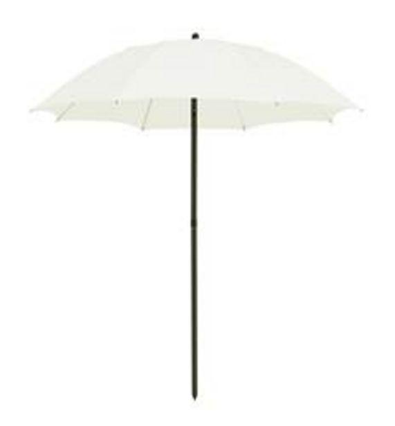 Oferta de YORK Parasol sin pie blanco apagado A 200 cm; Ø 178 cm por 22,45€