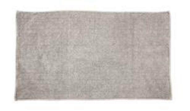 Oferta de YARA Alfombra de baño gris claro An. 70 x L 120 cm por 26,36€