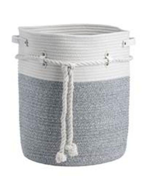 Oferta de COTTON Cesta para colada blanco, gris A 41 cm; Ø 35 cm por 15€