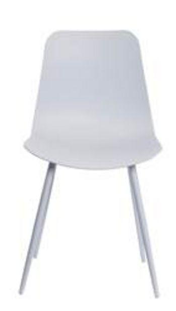 Oferta de PIERRE Silla de comedor blanco A 80 x An. 44 x P 40 cm por 30€