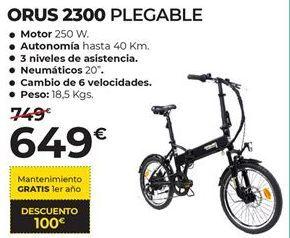 Oferta de Bicicleta plegable Orus por 649€