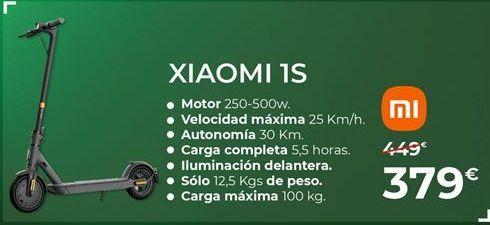 Oferta de Patinete eléctrico Xiaomi por 379€