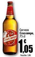 Oferta de Cerveza Cruzcampo, 75 cl por 1,05€