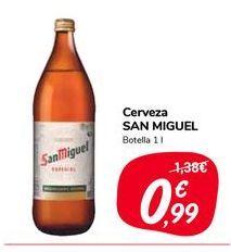 Oferta de Cerveza San Miguel botella 1l por 0,99€