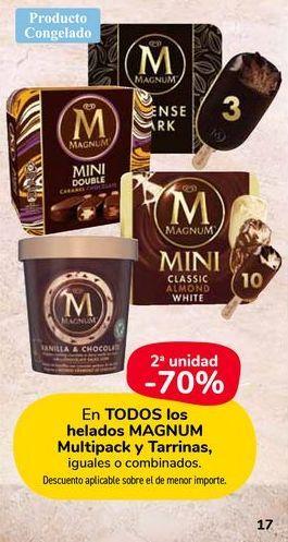 Oferta de Todos los helados Magnum, multipack y tarrinas. por