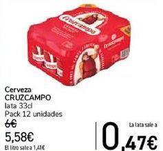 Oferta de Cerveza CRUZCAMPO  por 5,58€