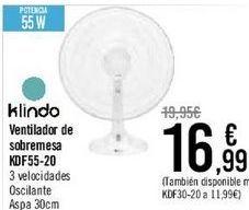 Oferta de Bluesky Ventilador box fan BBF12-17  por 16,99€