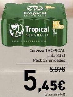 Oferta de Cerveza TROPICAL  por 5,45€