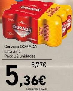 Oferta de Cerveza DORADA  por 5,36€