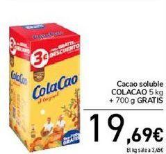 Oferta de Cacao soluble COLACAO  por 19,99€