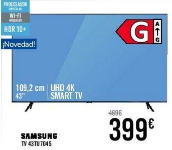 Oferta de SAMSUNG TV 43TU7045  por 399€