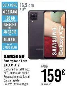 Oferta de SAMSUNG Smartphone libre GALAXY A12  por 159€