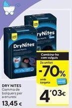 Oferta de Pañales DryNites por 13,45€