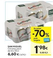 Oferta de Cerveza San Miguel por 6,6€