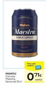 Oferta de Cerveza Mahou por 0,71€
