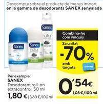 Oferta de Desodorante roll on Sanex por 1,8€