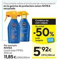 Oferta de Protector solar Nivea por 11,85€
