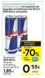 Oferta de Bebida energética Red Bull por 1,85€
