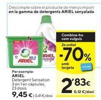 Oferta de Detergente en cápsulas Ariel por 9,45€