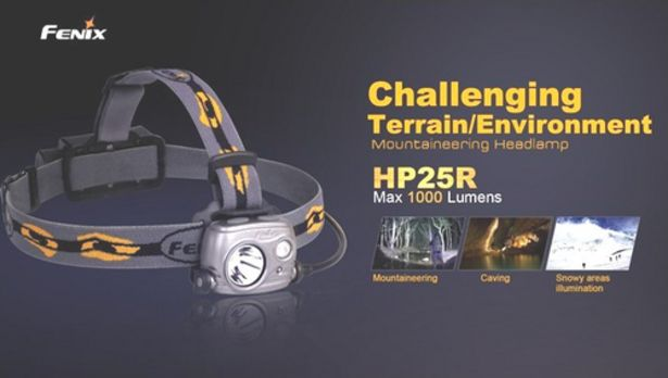 Oferta de Frontal FENIX modelo HP25R 1000 lúmenes por 79,9€