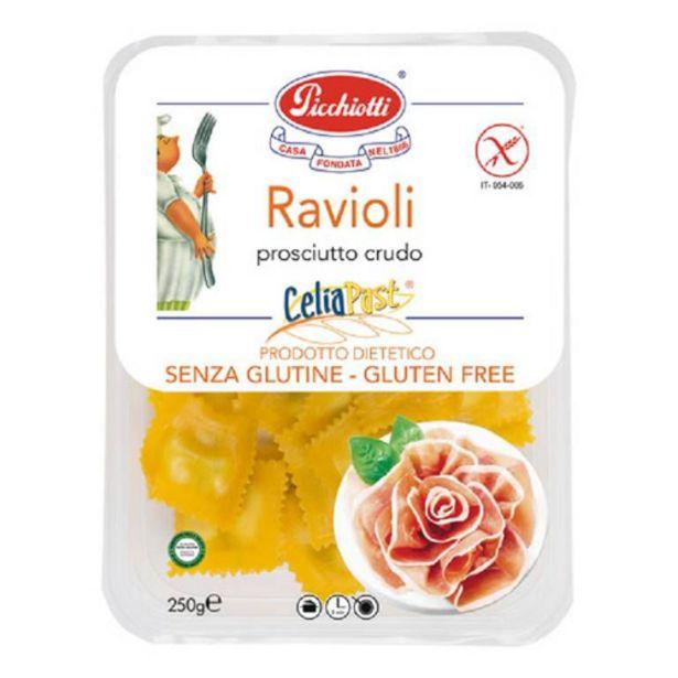 Oferta de Ravioli sin gluten con jamón crudo Picchiotti 250gr  por 5,9€