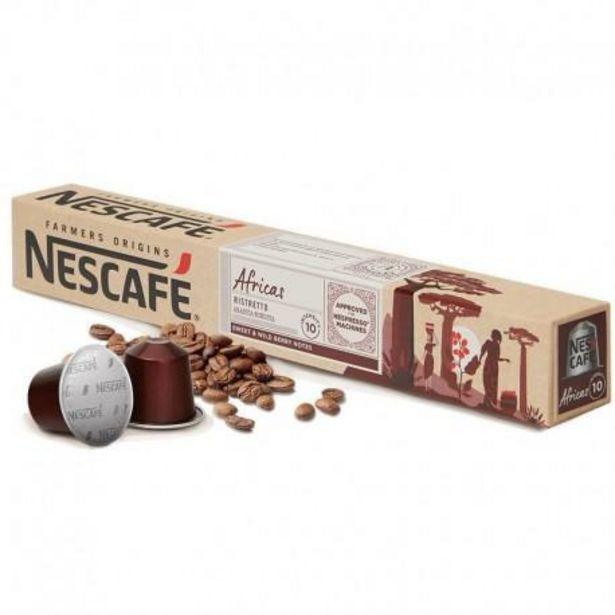 Oferta de Café Cápsulas Ristretto Africas Nescafé 10 Cápsulas por 3,35€