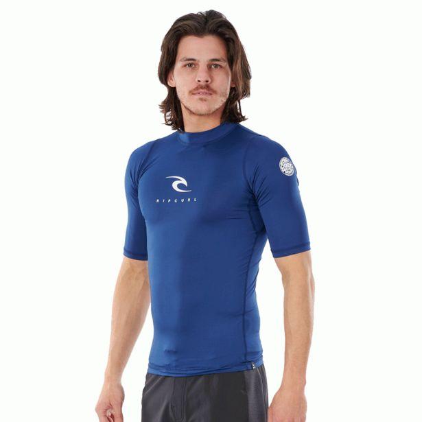 Oferta de Camiseta Lycra Hombre Rip Curl manga corta - Azul Marino por 18€