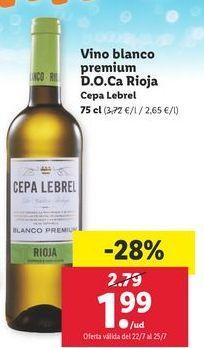 Oferta de Vino blanco Cepa Lebrel por 1,99€