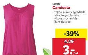 Oferta de Camiseta mujer Esmara por