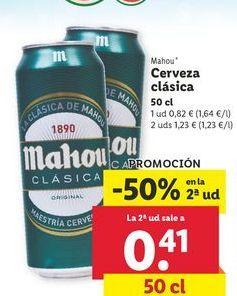 Oferta de Cerveza Mahou por 0,82€