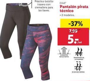 Oferta de Pantalón pirata técnico Crivit por 5€
