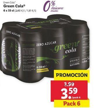 Oferta de 6x  33 cl Refrescos Green Cola por 3,59€