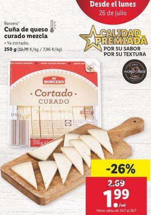 Oferta de Queso curado Roncero por 1,99€